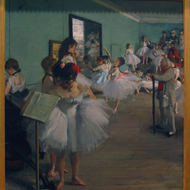 The Dance Class, probably 1874, by Degas.
