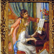 Two Young Girls at the Piano, 1892