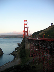 Thumbnail image ofThe Golden Gate Bridge from Marin County looking...