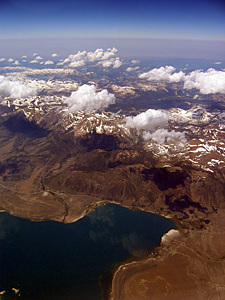 Thumbnail image ofAerial view of Mono Lake and the Sierra Nevada...