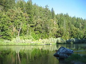 The Lower Klamath River below Happy Camp.