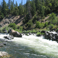 Dragon's Tooth rapid (Class IV) on the Lower Klamath River below Happy Camp.