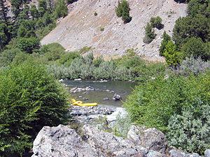 Thumbnail image ofUkonom Creek as it enters the Lower Klamath below...