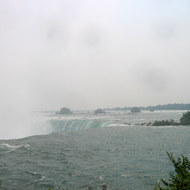 The view from the top of Niagara Falls.