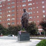 A statue of Tomas Garrigue Masaryk, Washington, DC -- a gift in 2002 from the Czech Republic.