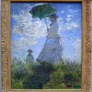 The Walk. Lady with a Parasol, 1875, Claude Monet, The National Gallery of Art, Washington, DC.