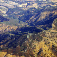 An aerial view of the top of Mount Diablo.