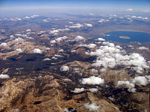 Thumbnail image ofAn aerial view of the Eastern Sierra Nevada and...