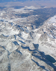 Thumbnail image ofAn aerial view of the Rocky Mountains on the flight...