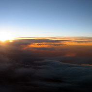 A sunset at 30,000 feet.
