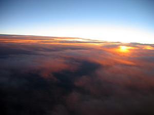 Thumbnail image ofA sunset at 30,000 feet.