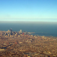 Aerial view of Chicago.