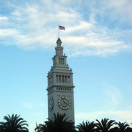 The Ferry Building tower in San Francisco.