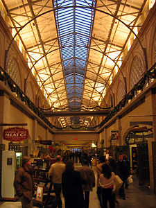 Thumbnail image ofThe interior of the Ferry Building in San Francisco,...