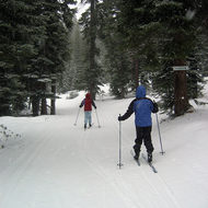 Cross-country skiing at Tahoe-Donner north of Lake Tahoe.