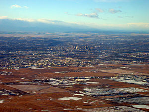 Thumbnail image ofApproaching Calgary, Alberta from the air.