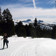Skiing at Kirkwood Cross Country Ski Area near Caples Lake, February 2006.
