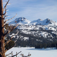 Caples Lake and peaks near Carson Pass, February 2006.