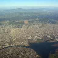 A view of the San Francisco East Bay region, looking toward Mount Diablo.