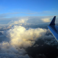 An aerial view of winter clouds above Oregon, February 2006.
