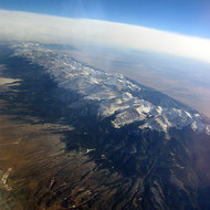 A mountain range Southwest of Colorado Springs, Colorado.