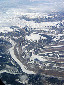 Thumbnail image ofSnowy mountains Southwest of Colorado Springs,...
