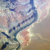 Marble Gorge of the Grand Canyon, showing Nankoweap in lower left.
