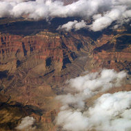 The central part of the Grand Canyon.