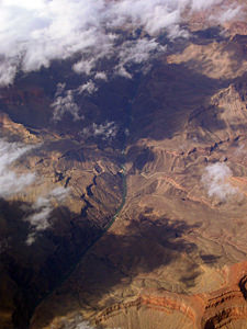 Thumbnail image ofThe central part of the Grand Canyon, with Hermit...