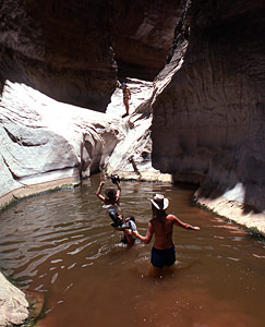 Thumbnail image ofHiking up the Silver Grotto, Shinumo Wash.