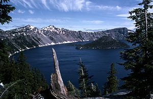 Thumbnail image of Crater Lake, with Wizard Island.