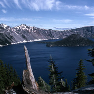 Crater Lake, with Wizard Island.