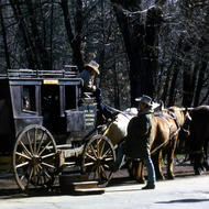 The stage coach at Columbia State Historic Park, California.