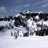 Mount Lassen National Park in winter (Mount Lassen not in view).