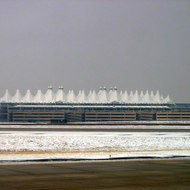 Denver International Airport in winter.