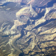 A view of the Yampa River from a commercial jet, including Outlaw Park and Warm Springs.