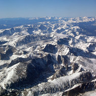 The Rocky Mountains outside of Denver.