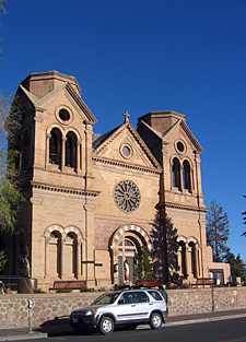Thumbnail image of Saint Francis Cathedral in downtown Santa Fe.