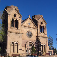 Saint Francis Cathedral in downtown Santa Fe.