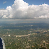 Clouds over Chicago suburbs.