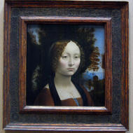 Leonardo Da Vinci's portrait of Ginevra de' Benci, the only painting by Da Vinci in the Western Hemisphere.