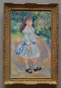 Thumbnail image ofGirl with a Hoop, 1885.