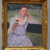 Woman with a Red Zinnia, 1891.