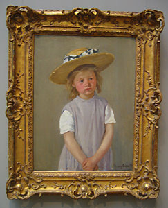 Thumbnail image of Child in a Straw Hat, c. 1886.