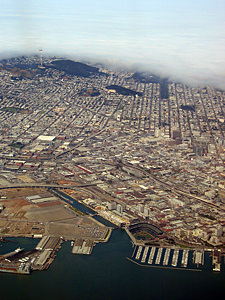 Thumbnail image ofAn aerial view of San Francisco, including Pacific...