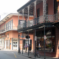 Royal Street in the French Quarter of New Orleans, post-Katrina.
