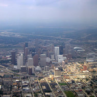 An aerial view of Houston, Texas.
