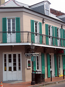 Thumbnail image ofThe corner of the famous Bourbon Street and St....