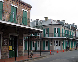 Thumbnail image ofThe corner of Bourbon Street and St. Peter in...