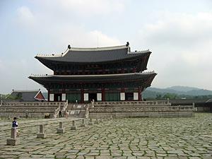 Thumbnail image ofThe Geunjeongjeon (main palace) building of the...